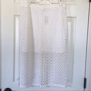 NWT Express cotton white skirt size 12